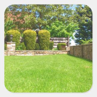 Picturesque Summer Garden Square Sticker