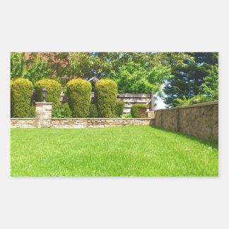 Picturesque Summer Garden Rectangular Sticker