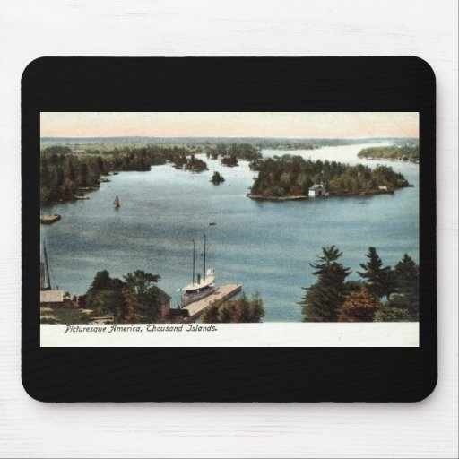 Picturesque Thousand Islands NY 1907 Vintage Mousepad