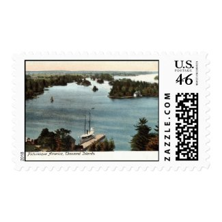 Picturesque Thousand Islands NY 1907 Vintage stamp