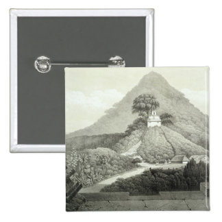 Picturesque view at the Temple of the Cross, Palen 2 Inch Square Button