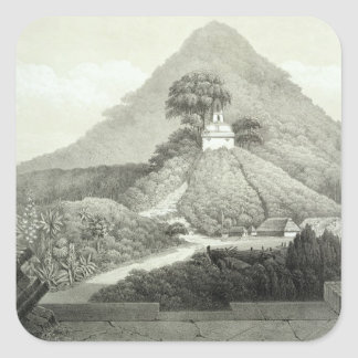 Picturesque view at the Temple of the Cross, Palen Square Sticker