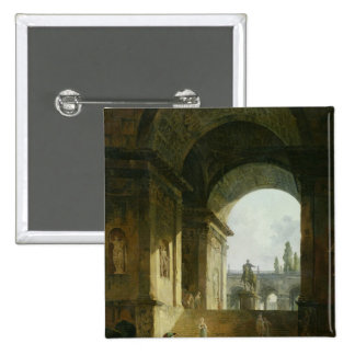 Picturesque View of the Capitol 2 Inch Square Button