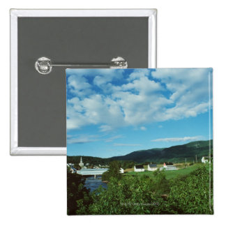 Picturesque village of St. Jean in Quebec, 2 Inch Square Button