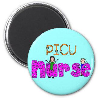 PICU Nurse Gifts 2 Inch Round Magnet