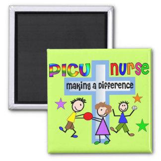 PICU Nurse Gifts 2 Inch Square Magnet