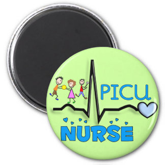 PICU Nurse Gifts-QRS Segment and Kids Design 2 Inch Round Magnet