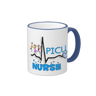 PICU Nurse Gifts-QRS Segment and Kids Design Ringer Coffee Mug