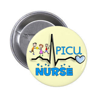 PICU Nurse Gifts-QRS Segment and Kids Design Pinback Button