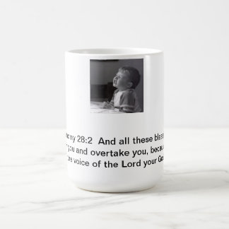 Pida bendiciones taza de café