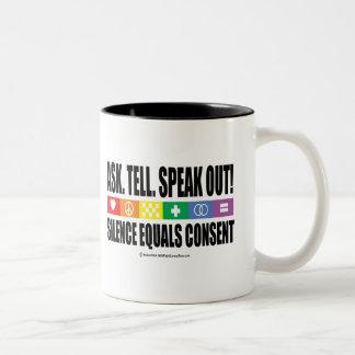 Pida dicen hablan hacia fuera LGBT Tazas