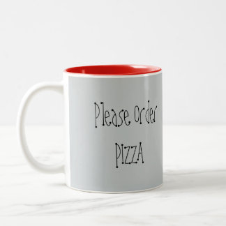 Pida por favor la taza de la pizza