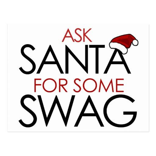 Pida Santa algún SWAG Tarjeta Postal
