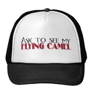 Pida ver mi camello del vuelo gorros bordados
