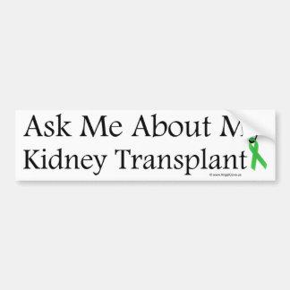 Pídame el riñón pegatina para auto