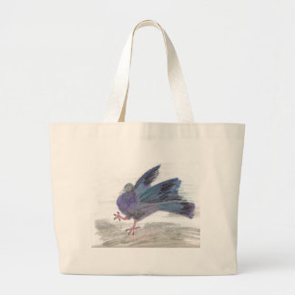 Pidgie Pigeon of the Pidgie Fund Large Tote Bag