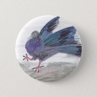 Pidgie Pigeon of the Pidgie Fund Pinback Button