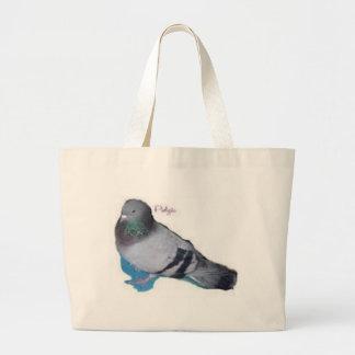 Pidgie The Pidgie Fund Pigeon Large Tote Bag