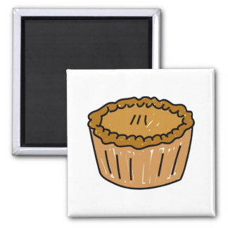 Pie 2 Inch Square Magnet