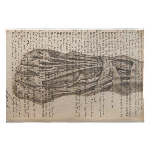pie anatómico manteles