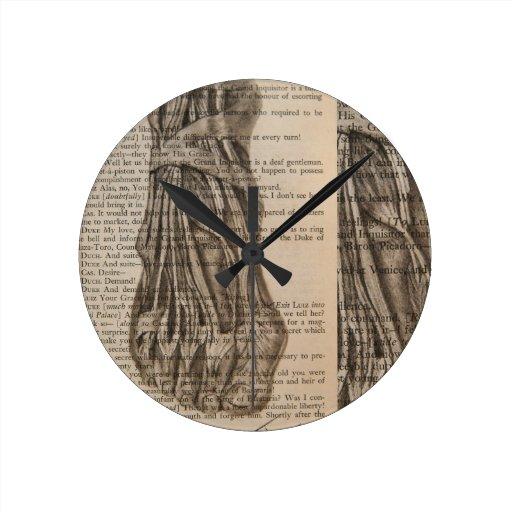 pie anatómico reloj de pared