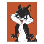 Pie Angry2 del gatito Tarjetas Postales