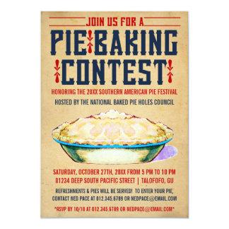 """Pie Baking Contest Invitations 5"""" X 7"""" Invitation Card"""