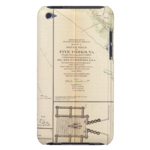 Pie BradyFt Burnham cinco bifurcaciones iPod Case-Mate Carcasas