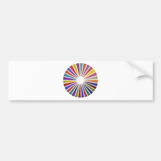 Pie chart bumper sticker