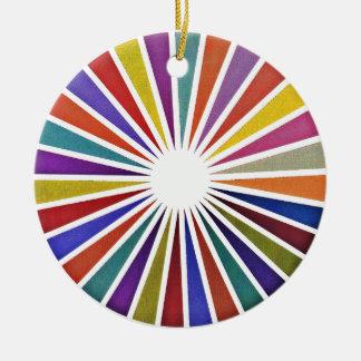 Pie chart ceramic ornament