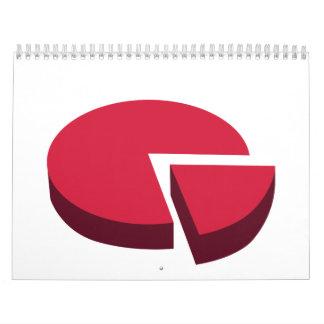 Pie chart diagram calendar