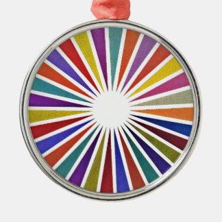 Pie chart metal ornament