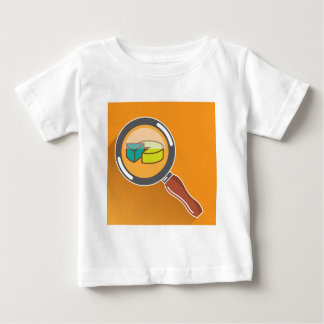 Pie Chart through Magnifying Glass Icon vector Baby T-Shirt