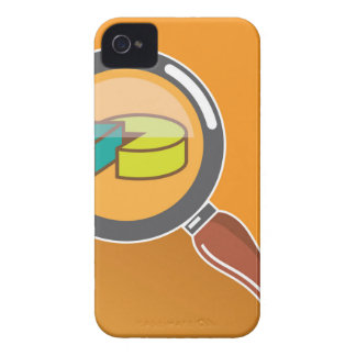 Pie Chart through Magnifying Glass Icon vector Case-Mate iPhone 4 Cases