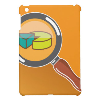 Pie Chart through Magnifying Glass Icon vector iPad Mini Cover