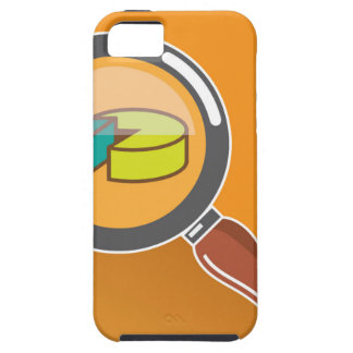Pie Chart through Magnifying Glass Icon vector iPhone SE/5/5s Case