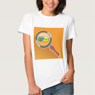 Pie Chart through Magnifying Glass Icon vector T Shirt
