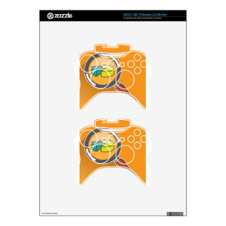 Pie Chart through Magnifying Glass Icon vector Xbox 360 Controller Skin