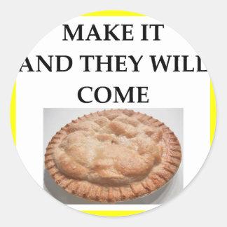 pie classic round sticker