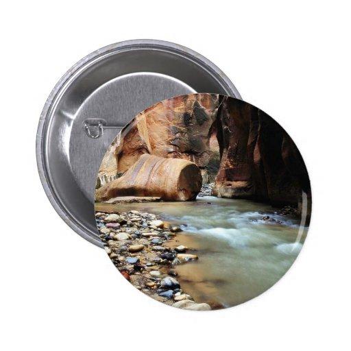 Pie como roca en los estrechos de Zion Pin Redondo 5 Cm