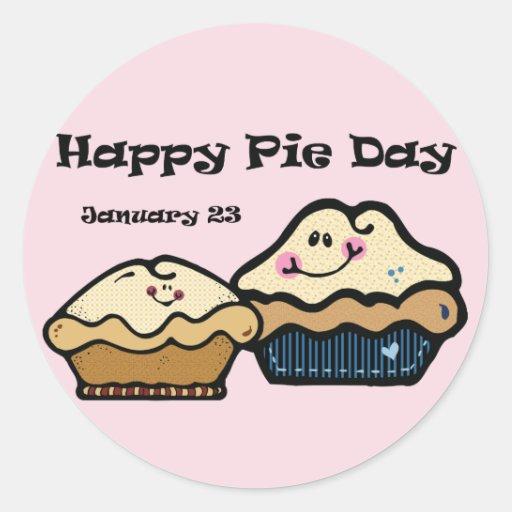 Pie Day January 23rd Classic Round Sticker