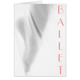 Pie de ballet tarjeta de felicitación
