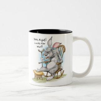 Pie de conejos afortunado taza de dos tonos