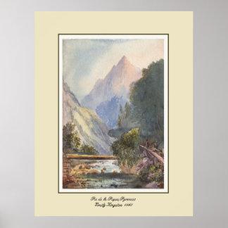 Pie de la Pique, los Pirineos Póster