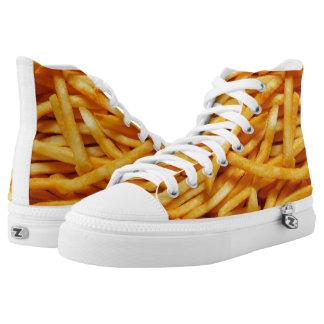 Pie de las patatas fritas zapatillas