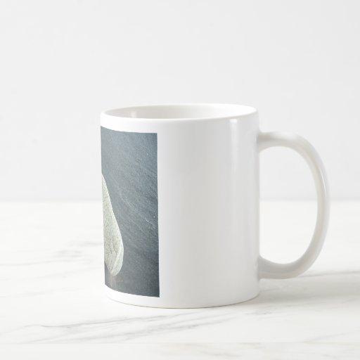 Pie de piedra tazas de café