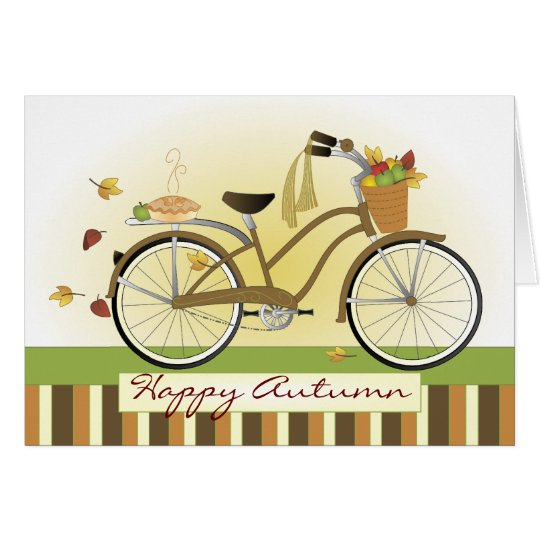 Pie Delivery Bicycle Card