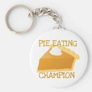 PIE EATING CHAMPION PUMPKIN PIE KEYCHAIN