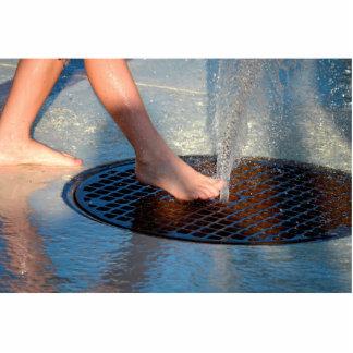pie en fuente de agua esculturas fotográficas
