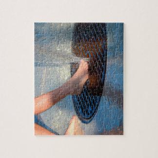 pie en fuente de agua rompecabezas con fotos